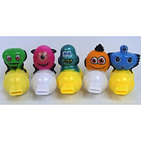 Monster Whistle. Set of 5 pieces.