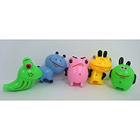 Friendly Monster Whistle. Set of 5 pieces.