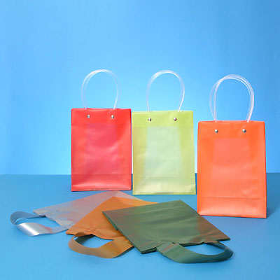 Frosty Color Shopping Bags