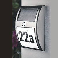 LED Solar Outdoor House Number Lamp