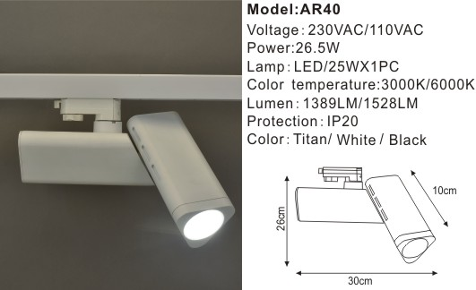 Accent 3 Phase Track Light System