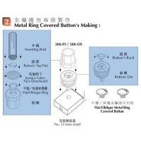 Metal Ring Double Layer Covered Button's Making