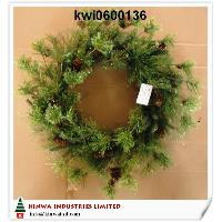 24 inches (60cm) Gold-dust Mixed Needle Pine Wreath