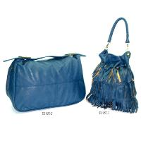 Royal Blue No Pattern Fashion Ladies Bag 2 Pcs Tote Bag Hand Bag
