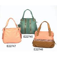Fashion Ladies 3 Pcs Medium Aquamarine / Light Salmon Hand Bags Set