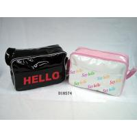 Black / Pink-white Fashion Ladies' Zippered Closure Hand Bags