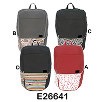 Trendy Designed Weekend Backpack, E26641ABCD
