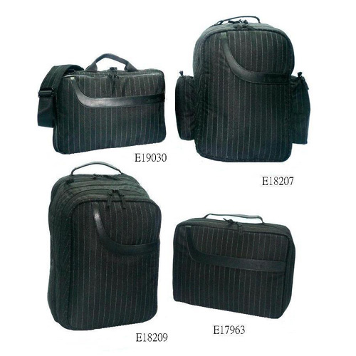Black Strip Pattern Two-way Zippered Closure Laptop / Computer Bag