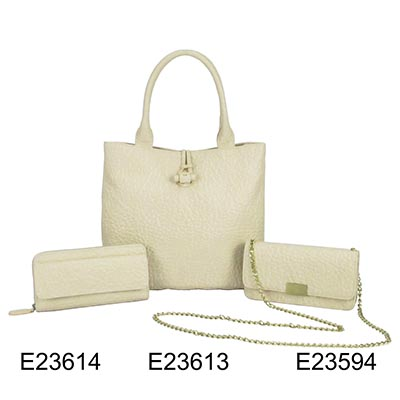Light Yellow Ladies 3 Pcs Tote Bag Hand Bag Shoulder Bag Set