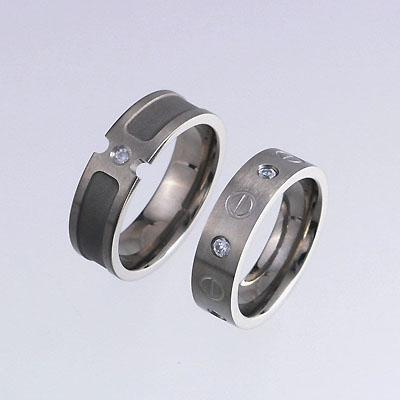 Titanium Rings with White CZs