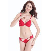 Ladies' Lace-Trimmed Bra & Shorty