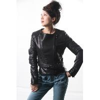 Collarless Leather Motorcycle Leather Jacket