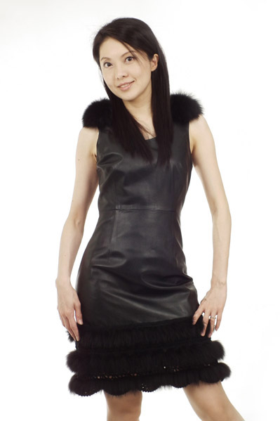 Patchwork Fur Leather Dress
