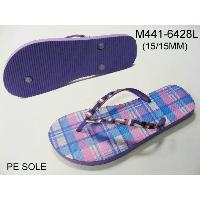 Ladies Fashion Pe Slippers