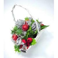 Christmas oval basket