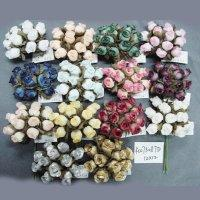 Polyester dried rose buds for decorations items.