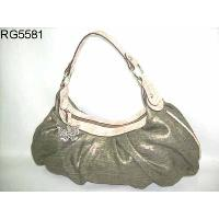 Olive Linen Fabric Hobo Top Zippered Closure Grab Strap Ladies' Hand Bag