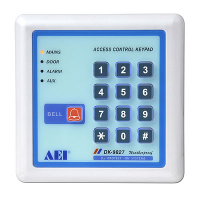 Weatherproof, Back-lit Full Feature 3 Output Dual Relay Digital Access  Control Keypad