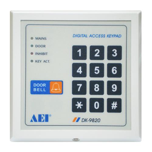 single relay output digital access control keypad dk 9820. Black Bedroom Furniture Sets. Home Design Ideas
