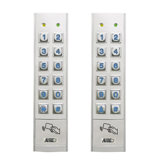 dual relay digital access control card reader keypad dk 2891 a b aei protect on systems. Black Bedroom Furniture Sets. Home Design Ideas