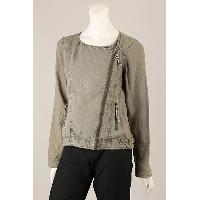 Ladies Woven Jacket with Pigment Dye & Wash, SH-0036