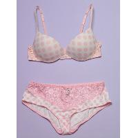 Knit moulded padded bra and brief, WEL0950