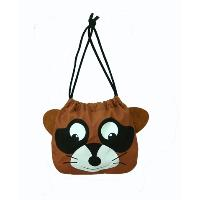 Raccoon Drawstring Pouch