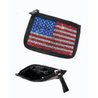 Coins Pouch with USA National Flag Pattern