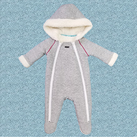 Baby Boys Bonded & Borg Snuggle Suit