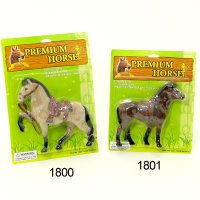 1800: 8 inches Height flocked Premium Horse 1801: 7 inches Height flocked Premium Horse (With 6 assorted color)