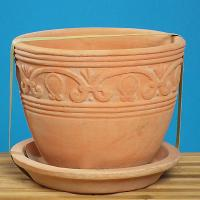 TERRACOTTA ITEMS - POT WITH SAUCER
