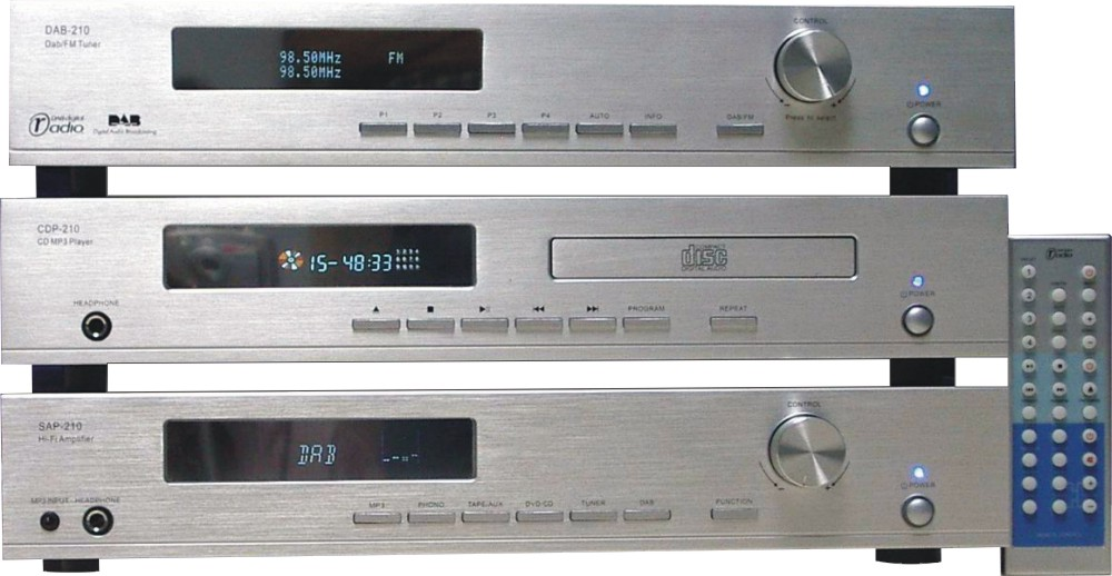 DAB Tuner/ Hi-Fi Amplifier/CD Player System (Separates)