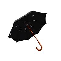 10oc Cotton One Piece Wooden Umbrella