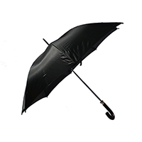 Plain Black Walking Umbrella