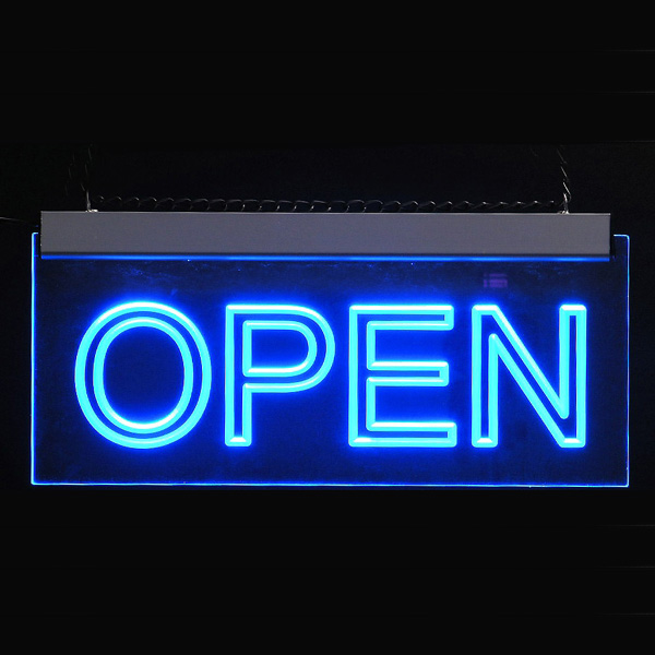 Sell LED Edge lit sign (open) from Doncorp Industrial Ltd