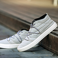 Linen Lace Up Mid-high Korean Fashion Shoes for Men