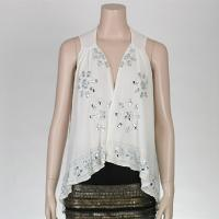 Ladies' Polyester Top With Delicate Sequins Work