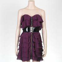 Ladies' Polyester Trendy Layers Dress + Belt