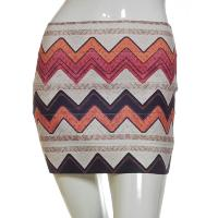 Ladies' 60% Polyester 40% Spandex Skirt With Digital Print