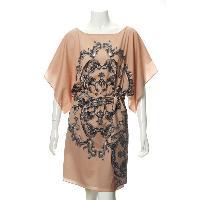 Ladies' 100% Polyester Printed Woven Dress In Digital Print