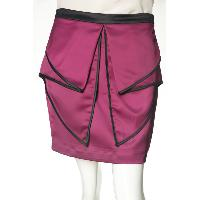 Ladies' Polyester Elastane Woven Skirt With Flap At Front