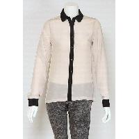 Ladies Contrast Color Silk Shirt