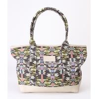 Print Canvas + Leather Bag