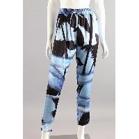 Ladies Silk Print Trousers