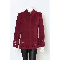 Ladies Poly Spandex Laser Cut Works Jacket