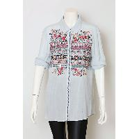 Ladies Rayon Top with Delicate Embroidery