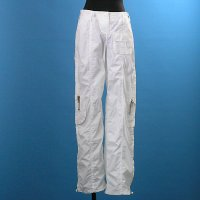 Ladies Cotton Woven Trousers With Detailed Pocket