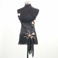 Ladies Embroidery+Beading+Flower Woven Bustier