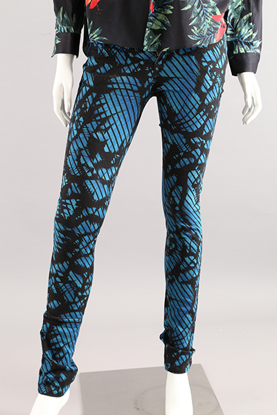 Ladies Cotton Print Denim