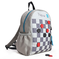 inchesCheckers inches Kids Activity School Backpack